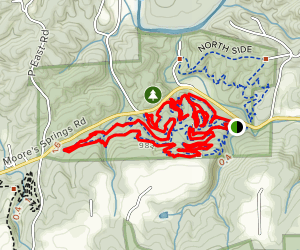 Moores Springs Mountain Bike Trails Map