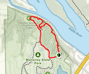 Peter Kiewit Lodge to Observation Tower Loop Trail Map