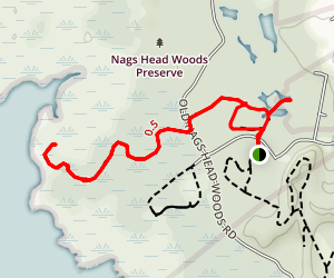 Discovery Trail to Roanoke Trail Red Loop Map