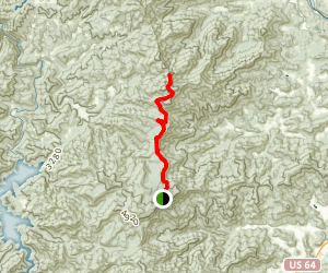 Appalachian Trail: Wayah Bald to Tellico Gap Map