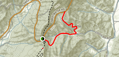 Stecoah Gap to Cody Branch Map