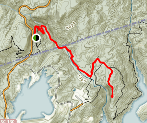 Lower Whitewater Falls Via Foothills Trail Map