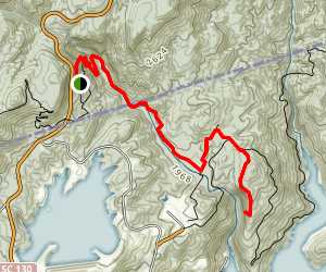 Whitewater Falls Via Foothills Trail Map