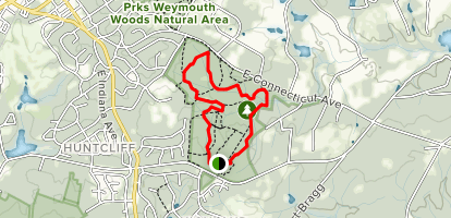 Weymouth Woods Sandhills Nature Preserve Loop Trail Map