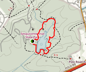 Sandhills Hiking Trail Map