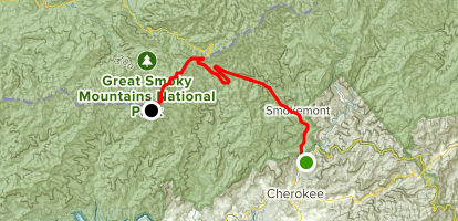 Clingmans Dome Map Cherokee to Clingmans Dome   North Carolina | AllTrails Clingmans Dome Map