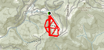Wolf Laurel Ski Area Map