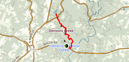 Densons Creek Nature Trail Map