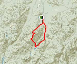 Avalanche Lake and Wright Peak Loop Via Avalanche Pass Trail Map