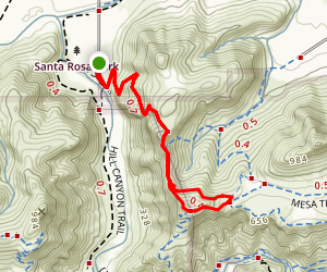 Canyon Overlook Trail Map