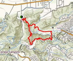 Mesa Trail and TePee Loop Trail to Skunk Hollow  Map