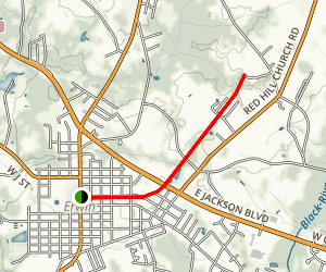 Dunn-Erwin Rail Trail Map