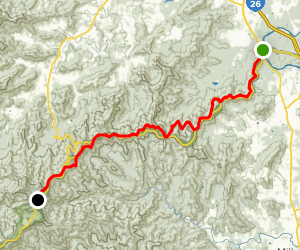Shut-In Trail -North to South  Map