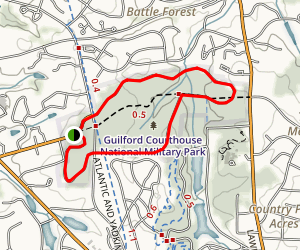Guilford Courthouse Tour Map