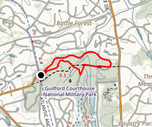 Guilford Courthouse National Military Park Map