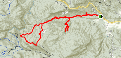 Shelton Pisgah Mountain Loop  Map