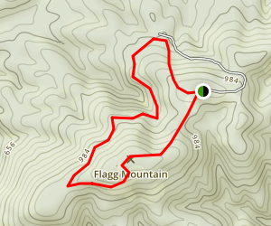 Flagg Mountain Trail Map