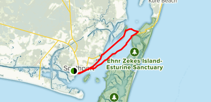 Kayak to Fort Fisher State Recreation Area Map