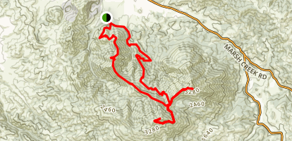 Mitchell Rock, Mount Diablo, and North Peak Loop Map