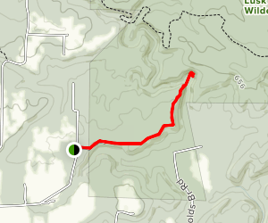 Lusk Creek Trail to Indian Kitchen Map