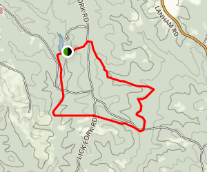 Horn Creek Hiking Trail Map