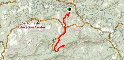 Dan River to Hanging Rock via Indian Creek Trail Map
