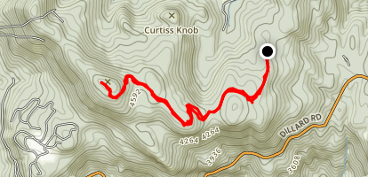 Scaly Mountain Summit Via Hickory Nut Map