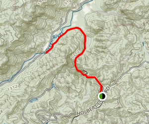 Cove Creek: Holbert Cove Road to Green River Map
