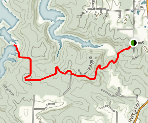 Little Cedar Lake via Lirley Trailhead Map