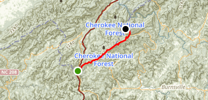 Appalachian Trail: Sams Gap to Devil's Fork Gap Map