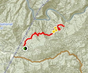 Devils Creek Trail to Lost Cove Trail Map