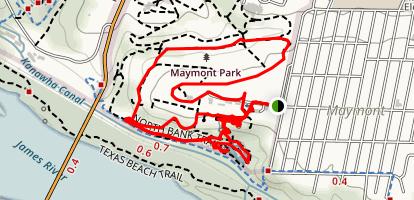 Maymont Park Garden Trail Map