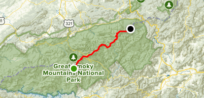 Newfound Gap and Low Gap Map