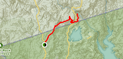 Foothills Trail to Whitewater Falls Map
