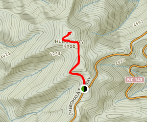 Huckleberry Knob Trail Map