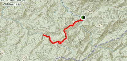 Benton McKaye Trail Southbound Tellico River to Brookshire Creek Map