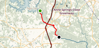Catawba River: Lake Wylie to Manchester Creek Map