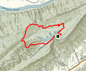 Ferm Trail to Cherry Knobs Trail Map
