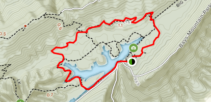 Chinquapin Trail and Lakeside Loop Trail Map