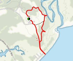 Barrier Beach Trail and Laird-Norton Trail Loop  Map
