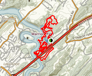 Warriors Path Loop Trail Map