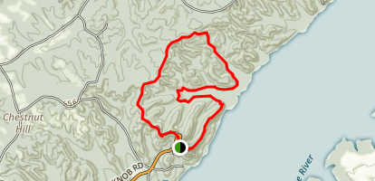 Pilot Knob Ridge and Hallmark Hollow Loop Trail Map