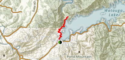 Appalachian Trail: Oliver Hollow Road to Watuga Dam Map