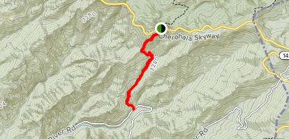 Big Indian Branch Trail Map