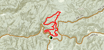 High Altitude Race Course Map