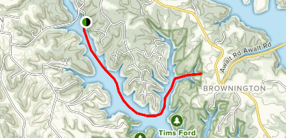 Pennington Cave on Tims Ford Lake Map