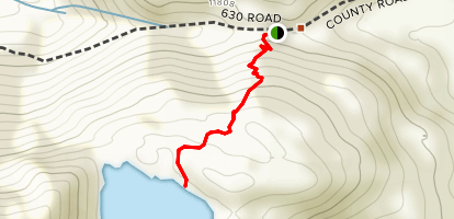 Ophir Pass to Crystal Lake Map