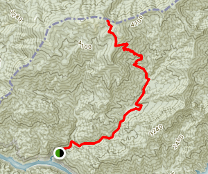 Rich Gap Via Long Hungry Ridge Trail Map