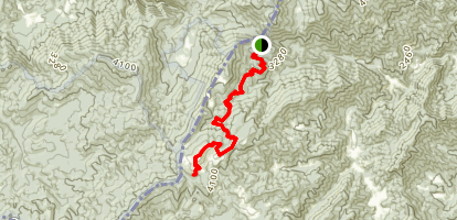 Appalachian Trail: Lemon Gap To Max Patch Map