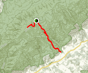Hinkle Branch Trail to Holston Mountain Low Gap Map